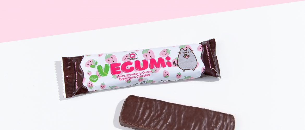 Freedom Confectionery, Partners with Pusheen™ in World's First Chocolate Coated Vegan Gummy Bar