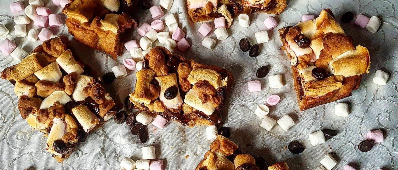 S'mores Cookie Dough Squares