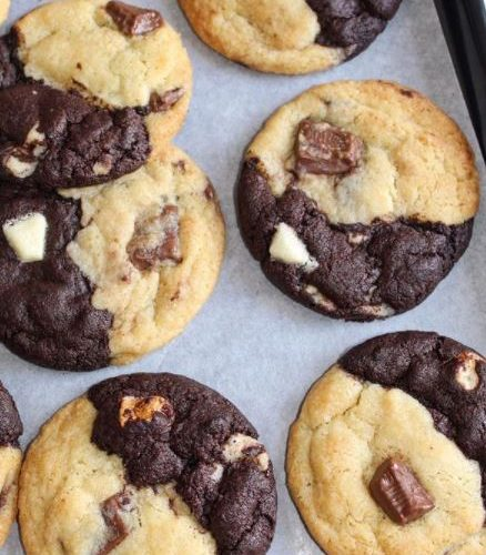 Half and Half Chocolate Chunk Cookies